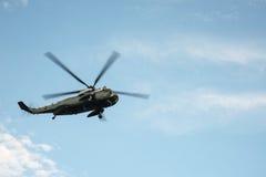 Den presidents- helikoptern i New York City Arkivfoton