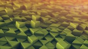 Den pressade ut trianglar tonade mosaiken 3D framför Royaltyfria Foton