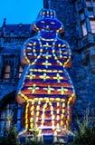 Den Printen skulpturen av domkyrkan i Aachen på jul marknadsför framme, Tyskland Fotografering för Bildbyråer