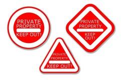 Den privata egenskapen - håll ut! Arkivfoton