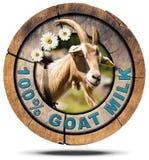 Den 100 procent geten mjölkar träsymbolen Royaltyfri Fotografi