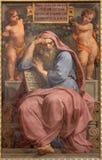 Den profetJeremiah freskomålningen i Basilika di Sant Agostino (Augustine) vid Pietro Gagliardi form 19 cent Royaltyfria Foton