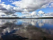 Den provinsiella Greenwater sjön parkerar Arkivbilder