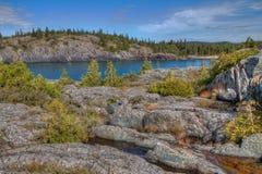 Den Pukaskwa nationalparken är på kusterna av Lake Superior i nordliga Ontario, Kanada royaltyfri fotografi