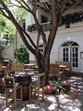 Den Punta Cana Dominikanska republiken gömma i handflatan restaurang tre Arkivfoton