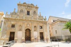 Den Purgatorio kyrkan i Castelvetrano, Sicilien Arkivfoton