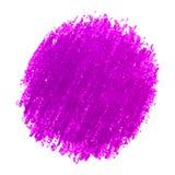Den purpurfärgade färgpennan klottrar texturfläck som isoleras på vit bakgrund Royaltyfri Foto