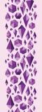 Den purpurfärgade geometriska juveln formar den sömlösa lodlinjen Royaltyfria Bilder