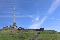 Den puy de kupol vulkantoppmötet Auvergne Frankrike, Europa fotografering för bildbyråer