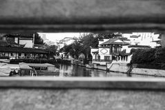 Den Qinhuai floden, Nanjing, Kina Arkivfoto