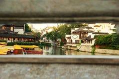 Den Qinhuai floden, Nanjing, Kina Royaltyfria Bilder