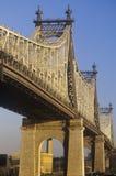 Den Queensboro (den 59th gatan) bron till Queens Arkivfoto