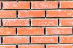 Den röda bruna gamla lantliga tegelstenväggen texturerade bakgrund Fotografering för Bildbyråer