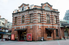Den röda byggnaden av Ximending Royaltyfri Foto