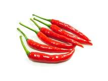 Den röda chili sporrar peppar arkivbilder
