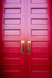 Den röda dörren Arkivfoto