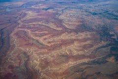Den röda flyg- sikten vaggar modeller nära sjön Powell i Utah Arkivfoton