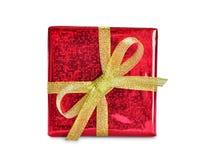 Den röda gåvan boxas Royaltyfria Bilder