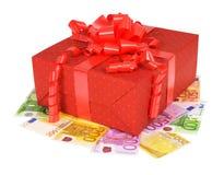 Den röda gåvan boxas Arkivbilder