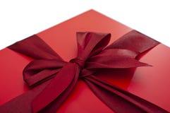 Den röda gåvan boxas Royaltyfri Foto