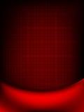 Den röda gardinen bleknar till det mörka kortet. EPS 10 Fotografering för Bildbyråer