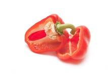 Den röda pepparen för snitt Royaltyfri Fotografi