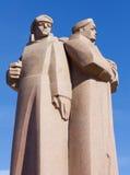 Den röda Riflemenmonumentet i Riga Royaltyfri Foto