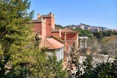 Den röda slotten Royaltyfria Bilder