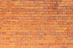 Den röda tegelstenväggen texturerar Royaltyfria Bilder