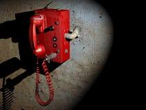 Den röda telefonen Royaltyfri Fotografi