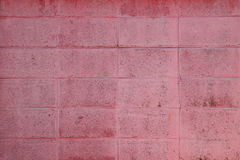 Den röda väggen på vägen Fotografering för Bildbyråer