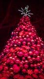Den rödbruna julgranrosa färgen klingar bokehstjärnan royaltyfria bilder