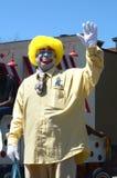 Den Ragtyme clownen på Ypsilantien, MI 4th Juli ståtar Royaltyfri Bild