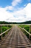 Den raka vägen av bron Arkivbild