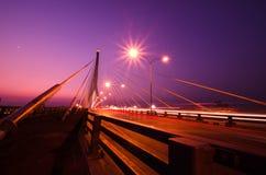 Den Rama VIII bron, en av Thailand mest berömd broar, spann Royaltyfria Foton