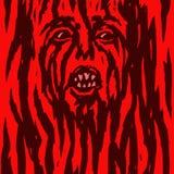 Den rasande röda demonkvinnan blöder också vektor för coreldrawillustration Royaltyfri Fotografi
