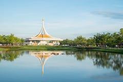 Den Ratchamangkhala paviljongen i Suan Luang offentliga Rama 9 parkerar Royaltyfria Bilder