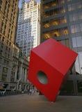 Den röda kuben Royaltyfria Bilder
