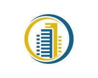 Den Real Estate egenskapen och konstruktionslogoen planlägger för företags tecken för affär Royaltyfria Foton
