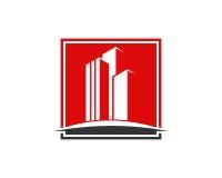 Den Real Estate egenskapen och konstruktionslogoen planlägger för företags tecken för affär Fotografering för Bildbyråer