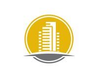 Den Real Estate egenskapen och konstruktionslogoen planlägger för företags tecken för affär Royaltyfri Foto