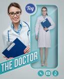 Den realistiska dockan för kvinnlig doktor Royaltyfri Foto