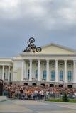 Den Red Bull X-kämpar utställningen turnerar Tyumen Ryssland Royaltyfria Foton