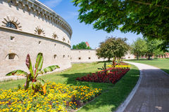 Den Reduit Tilly slotten i Ingolstadt Arkivfoto