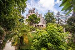 Den Regaleira slotten Quinta da Regaleira Byggt av arkitekten Luigi Manini av Antonio Carvalho Monteiro Arkivfoton