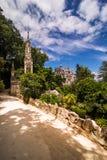 Den Regaleira slotten Quinta da Regaleira Byggt av arkitekten Luigi Manini av Antonio Carvalho Monteiro Arkivbilder