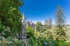 Den Regaleira slotten, Sintra, Portugal arkivbild