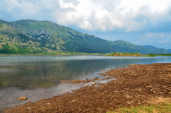 Den regionala Matese sjön parkerar, Campania, Molise, Italien, Europa, San Gregorio Matese Royaltyfri Bild