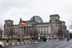Den Reichstag byggnaden Arkivfoto
