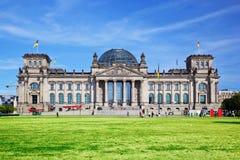 Den Reichstag byggnaden. Berlin Tyskland Arkivfoton